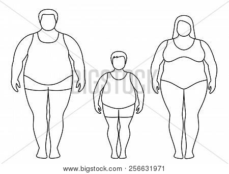 Contours Fat Man Vector Photo Free Trial