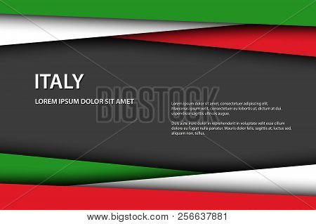 Modern Vector Background With Italian Colors And Grey Free Space For Your Text, Overlayed Sheets Of