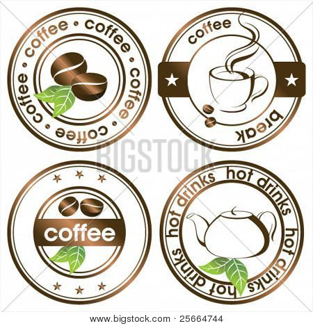tea and coffee stamps set
