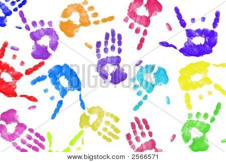 Hand Print Background