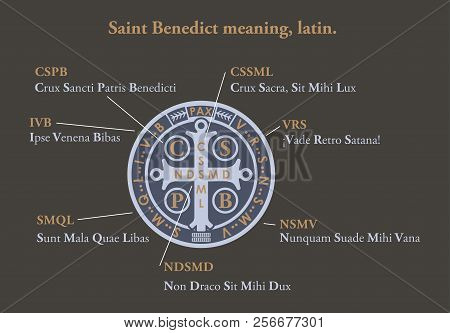 Saint Benedict Medal Meaning In Latin. Christian
