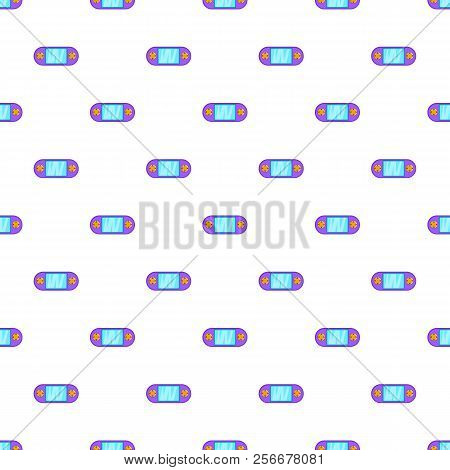 Portable Video Game Console Pattern. Cartoon Illustration Of Portable Video Game Console Pattern For