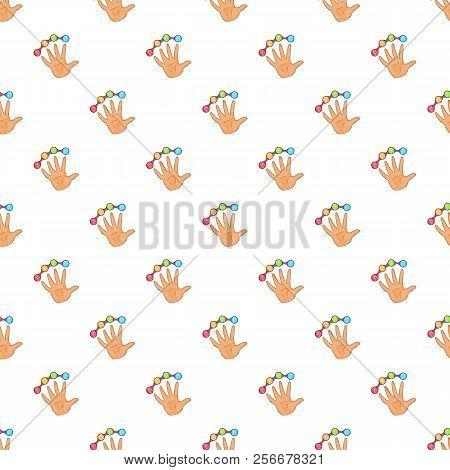 Scanning Of Finger Pattern. Cartoon Illustration Of Scanning Of Finger Pattern For Web