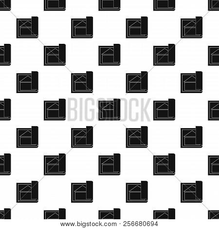 Architectural Design Of House Pattern. Simple Illustration Of Architectural Design Of House Pattern