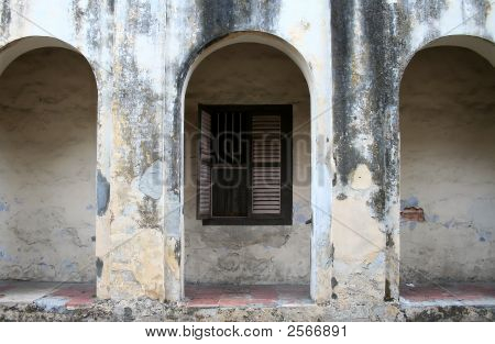 Wall Of An Old Dilapidated Building