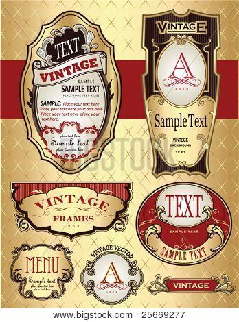 golden vintage label design