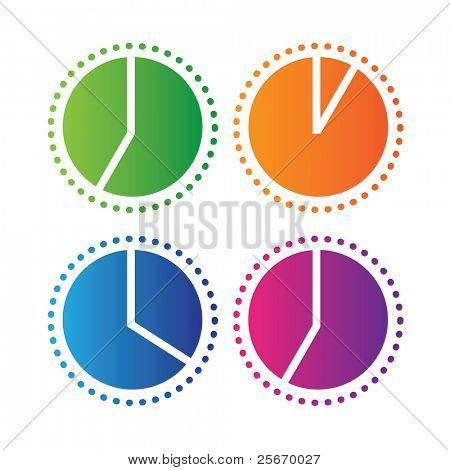 Uhr zeigt die Zeit des Tages