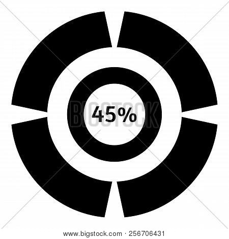 Forty Five Percent Download Icon. Simple Illustration Of Forty Five Percent Download Icon For Web