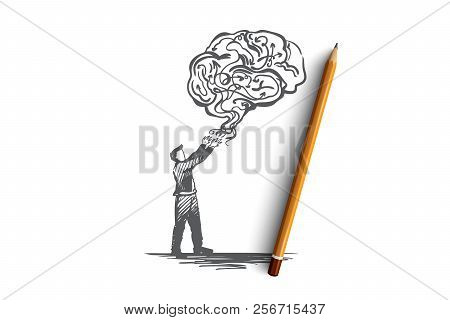 Business Idea, Creative, Brainstorming, Solution, Creativity Concept. Hand Drawn Isolated Vector.