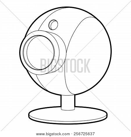 Webcam icon. Isometric 3d illustration of webcam icon for web poster