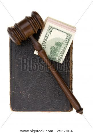 Book, Gavel, Dollar