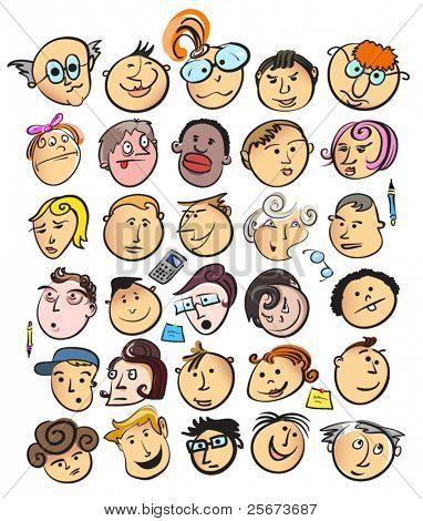 face people cartoon