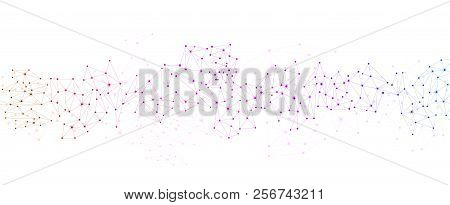 White Global Communication Background With Colorful Network.