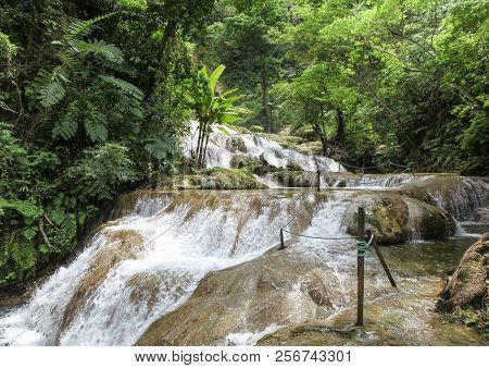 Mele Cascades Are Located On Efate In Vanuatu And Are A Popular Tourist Destination Where People Can