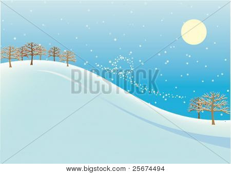 Abstract Winter landscape