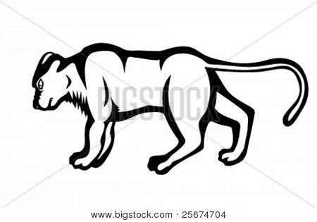 Tattoo panther illustration
