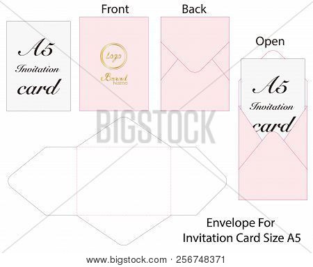 Envelope Card A5 Size Vector Photo Free Trial Bigstock