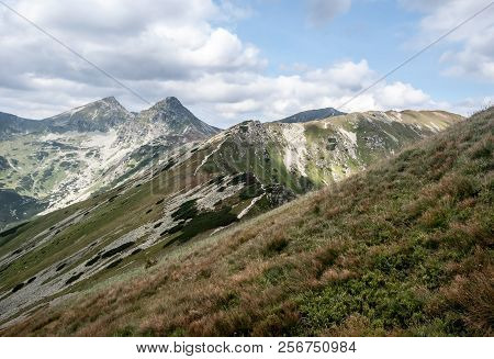 Derava, Volovec, Ostry Rohac And Placlive Peaks In Zapadne Tatry Mountains In Slovakia During Nice D