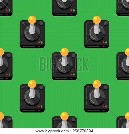 Game Joystick Console On Green Background, Retro Style, Seamless Pattern. Pattern Background Video G