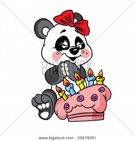 happypandabirthdaywith cake