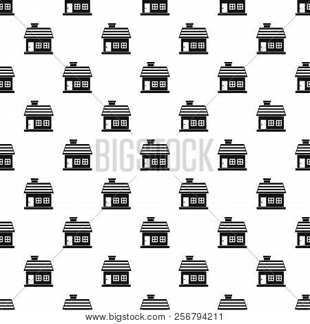 One-storey House Pattern. Simple Illustration Of One-storey House Pattern For Web Design