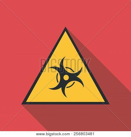 Biological Threat Icon. Flat Illustration Of Biological Threat Icon For Web
