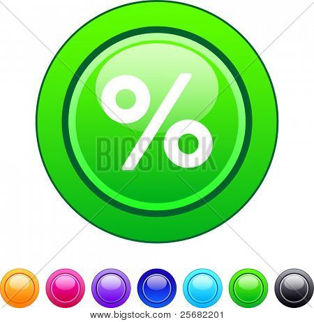 Percent glossy circle web buttons.