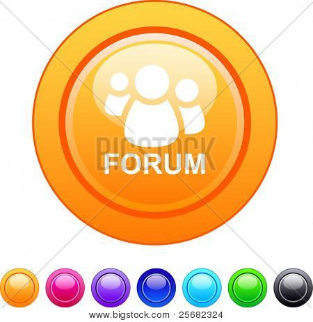 Forum glossy circle web buttons.