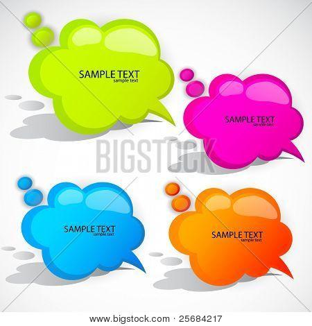 Colorful cloud bubble for speech