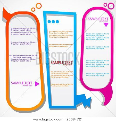 Colorful speech frames