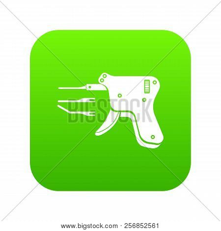 Code Reader Icon Green Isolated On White Background