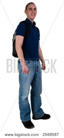 College Student With Back Pack