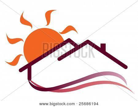 Sunny house sign
