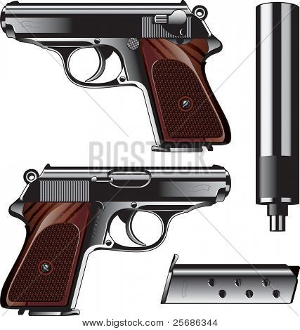 German pistol created for Kriminal Polizei. It is  used by Luftwaffe too.
