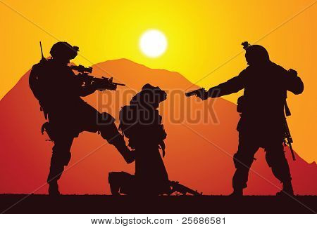 Marines captured a rebel