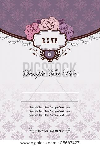 Wedding invitation images illustrations vectors wedding invitation card template stopboris Image collections