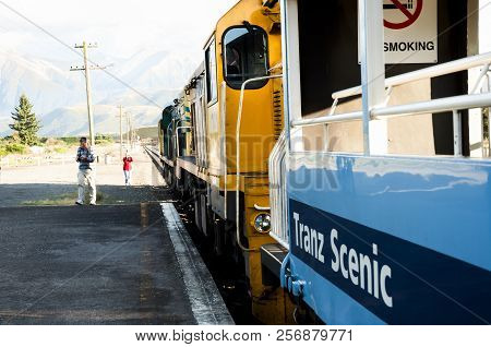 Christchurch, New Zealand - March 26, 2011: Kiwirail Tranz Scenic Train Journey Is New Zealand Only