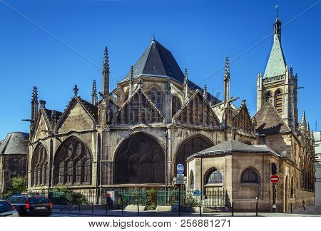 The Church Of Saint-severin Is A Roman Catholic Church In The Latin Quarter Of Paris. It Is One Of T
