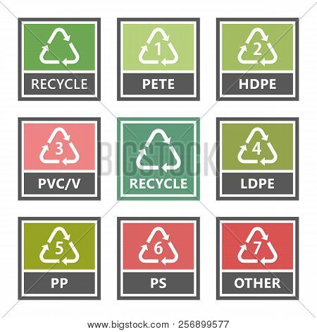 Plastic Recycling Icons And Symbols, Recycle Sign