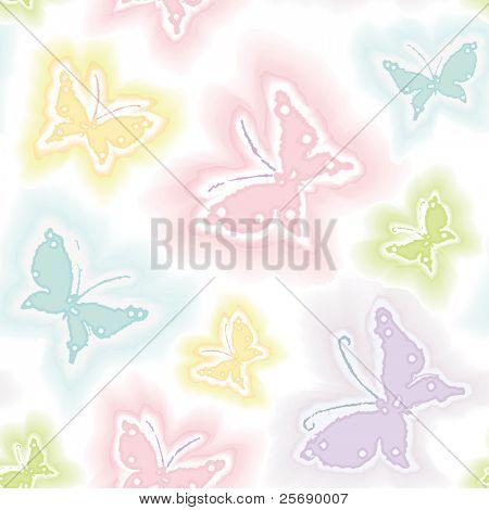Achtergrond met vlinders in aquarel techniek