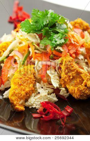 Индийская кухня - Кормянский салат из цыпленка с соусом карри