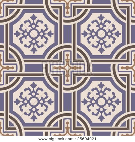 Vector ceramic tiles with seamless pattern 1