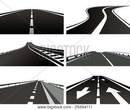 Vector Illustration of a asphalt road