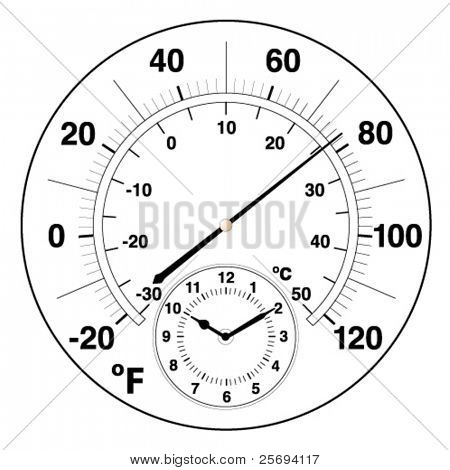Vector illustration of a temperature measuring
