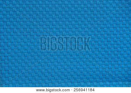 Light Blue Plastic Texture Of A Wicker Wall
