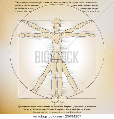 Vector Illustration Da Vinci
