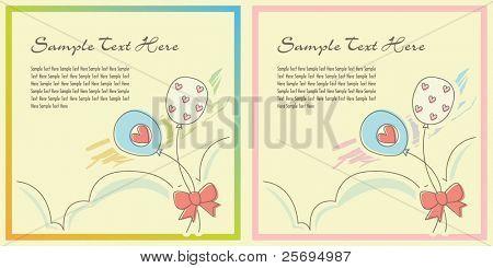 Cute balloon template