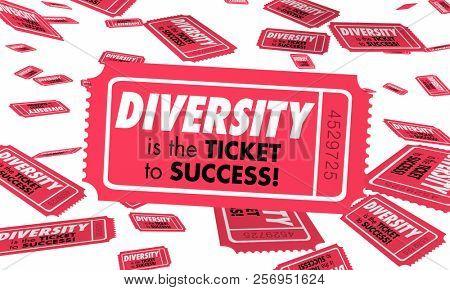 Diversity Cultural Differences Heritage Ticket Success 3d Illustration