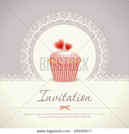Vintage cupcake background 08