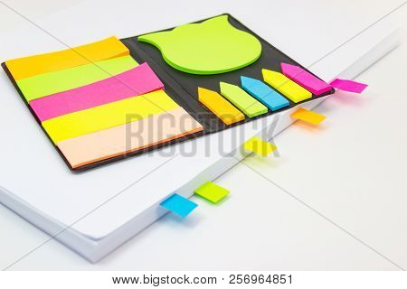Colored Tabs In Books Concept Reader And Remember